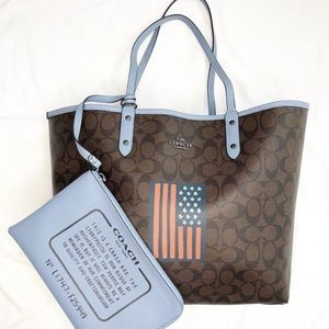 Coach Large Tote Reversible American Flag